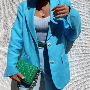 beautiful blue blazer, can be blazer dress